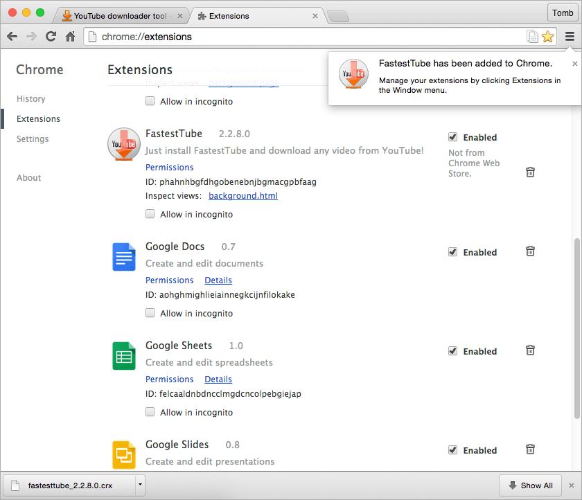 YouTube downloader tool - Fastesttube!